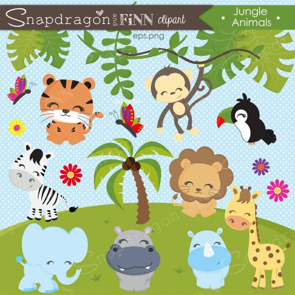 jungle animals clipart jungle clipart safari clipart rh etsy com jungle clipart jungle clip art free downloads