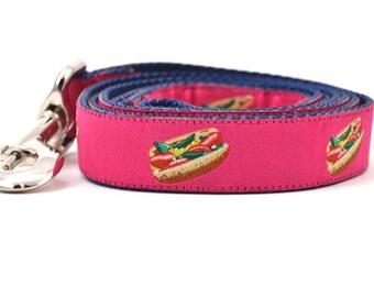 Chicago Style Hot Dog - Pink - Dog Leash