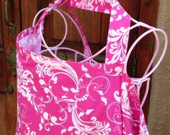 Beautiful Nursing Cover - Fuchsia Pink Berry Whispers   - New Mom Baby Gift