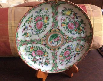 Vintage Rose Medallion Plate with hanger