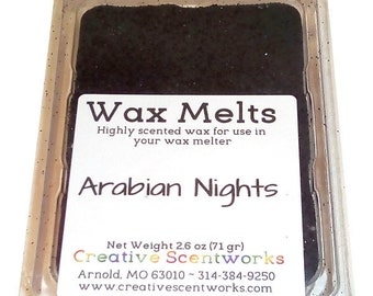 CLEARANCE Arabian Nights Scented Wax Melts, Wax Cubes, Wax Tart, Wickless Candle, Melting Wax, Wax Melt, Scent Bar, Scent Cube, Wax Bar
