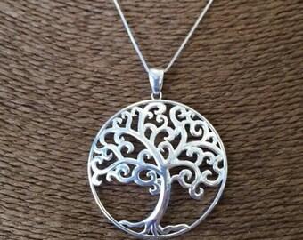 Sterling Silver (925) Tree of Life Pendant, Angel Oak Tree, Charleston Gates