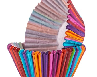 Striped Standard Baking Cups, Set of 24 - Cupcake Wrappers, Cupcake Liners, Baking Cups, Birthday Party, Circus Party, Art Party, Party