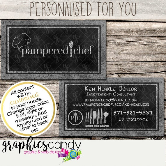 Pampered chef independent consultant business card design colourmoves Images