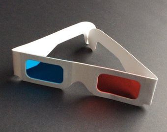 Doctor Who cosplay 3D anaglyph glasses retro red and cyan blue lenses – BBC Dr Who prop replica – Pokemon Go trainer glasses