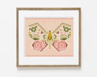 moth wings print
