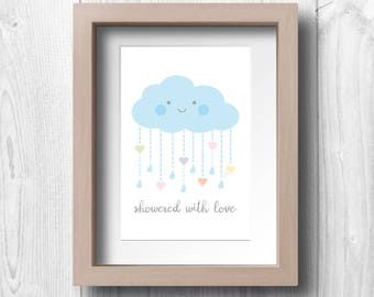 Showered With Love - Printable Wall Art