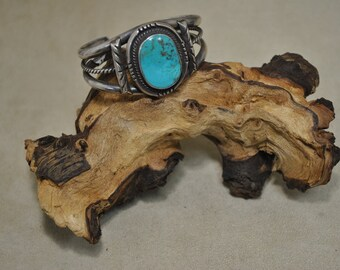 Stunning Sterling Silver Turquoise Cuff Bracelet