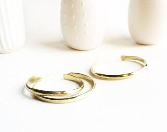 Brass Hammered Medium Cuff Bracelet