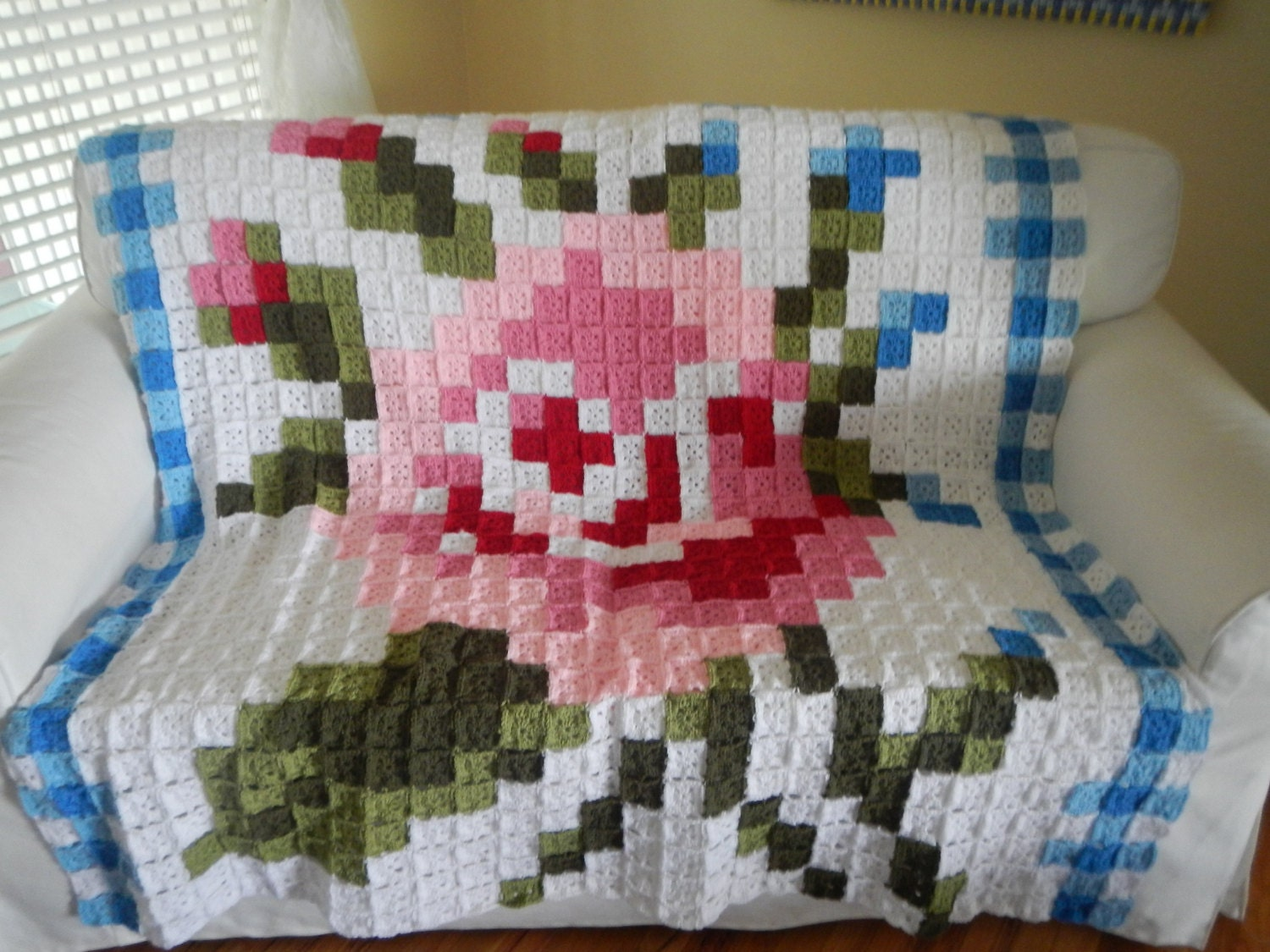Outstanding Rose Afghan Crochet Pattern Frieze - Sewing Pattern for ...