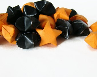 100 Origami Lucky Stars - Halloween Orange and Black
