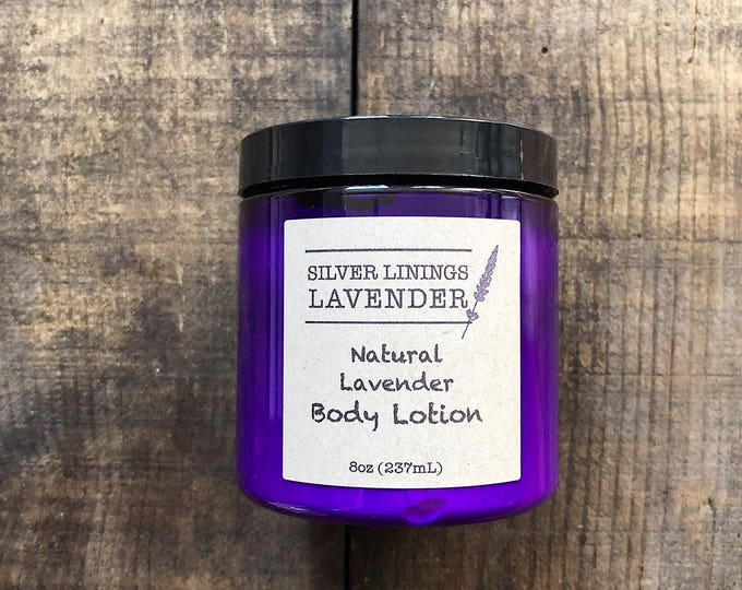 Natural Lavender Body Lotion / Non Greasy Natural Lavender Lotion / Natural Lotion for Dry Skin / Calming Lavender Aromatherapy Lotion