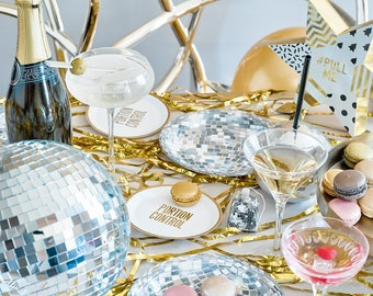 Disco Plates - Disco Party, 80s Party, 70s Party, New Years Eve Party, Retro Party, Rock Party, Dance Party, 70's Disco, Retro Birthday Idea