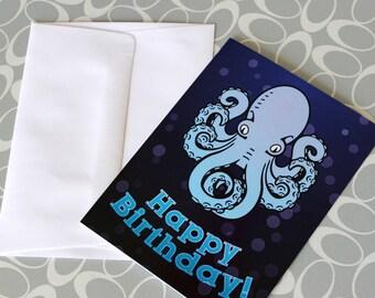 Happy Birthday Octopus Greeting Card