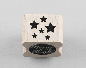 Rubber Stamp little stars 1,5 x 1,5 cm