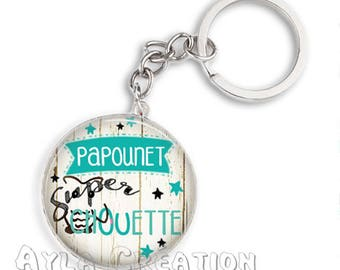 Cabochons glass 25mm #PA_CP19 dad keychain