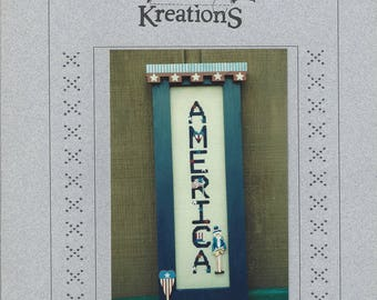 "Clearance - ""America"" Counted Cross Stitch Chart by Poppy Kreations"
