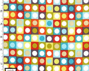 Retro Bot Dots From Michael Miller's Bot Boy Collection