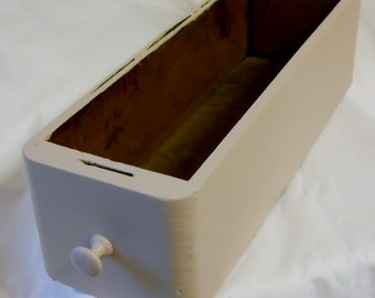 Wooden Drawer Sewing Machine cabinet drawer upcycled storage drawer file drawer shabby chic