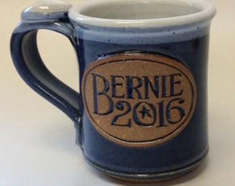 Handmade stoneware Bernie 2016 mug