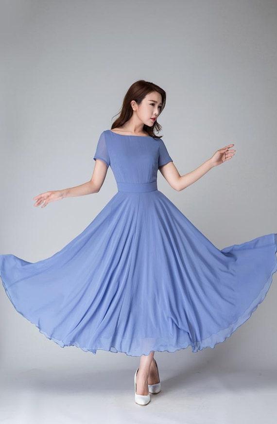 maxi dress wedding dress blue dress summer dress women