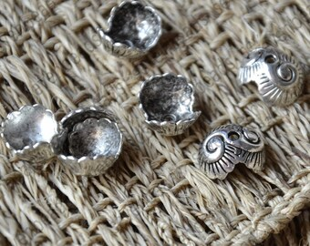30 pcs of 11x13mm Antique Silver Tone spiral bead cap findings,findings beads,bracelet findings,necklace findings