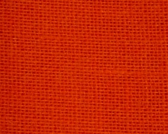 """60"""" Inch Tangerine Color Burlap - By The Yard"""