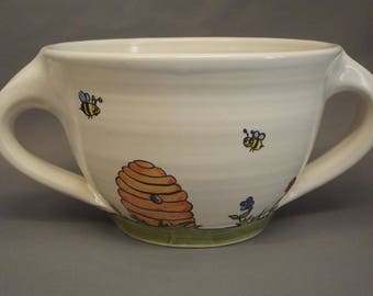 """Large bowl name / decor """"The beekeeper"""""""