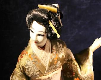 Japanese Nishi Doll * Geisha with Silk Yukata