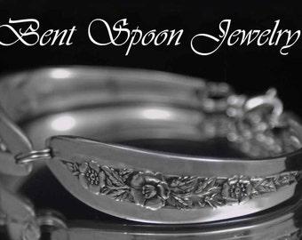 Spoon Bracelet, Silverware Jewelry, Spoon Jewelry, Wedding Bracelet, Bridal Bracelet, Bridesmaids Bracelet - 1952 Primrose