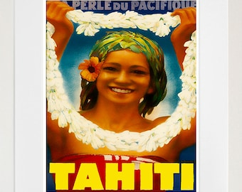Tahiti Art Travel Poster Print Home Decor (ZT385)
