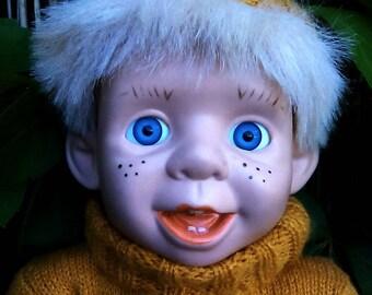 Vintage ceramic head doll