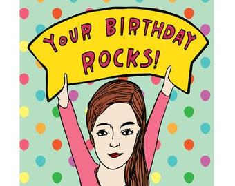 Birthday Card - Your Birthday Rocks