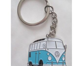NEW Retro vintage VW combi bus keychain camper van new bettle cox rockabilly pin up 70's hippie volkswagen kustom low riding