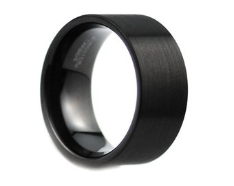 Mens Wedding Band Brushed Tungsten Carbide Unique Mens Wedding Band Mens Wedding Ring Tungsten Ring Man Wedding Band 12mm Wedding Band Ring