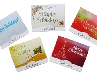 Holiday Gift Card Holder Variety Pack - 5 pack