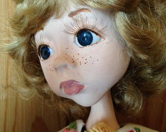 Maggie handmade art doll Laisves dolls