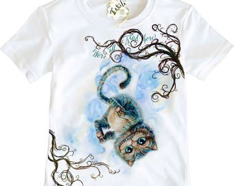 Cheshire Cat from Alice Through the Looking Glass and Wonderland Kids' T-shirt by Takila