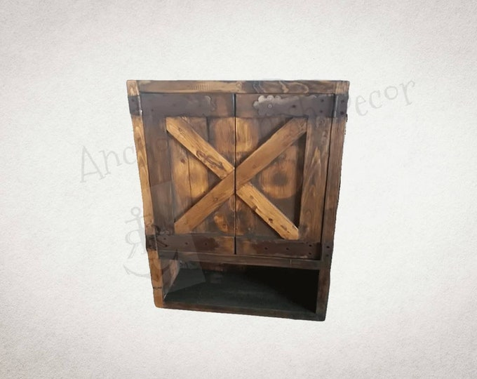 Incroyable Custom Made Barnwood Toilet Cabinet Medicine Cabinet Item #BC 001