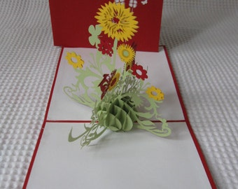 3D  Pop Up Greeting Card - Birthday Card - Pop Up Card - Thank You Card (13)
