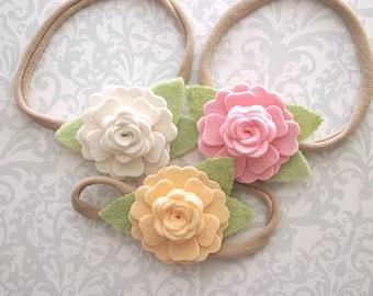 Felt Flower Headband, Baby Flower Headband, Baby Headband, Flower Headband, Felt Baby Headband, Newborn Headband, Toddler Headband Baby Girl