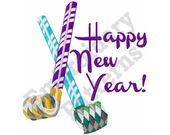 Happy New Year - Machine Embroidery Design