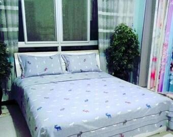 duvet cover, cotton bedding set