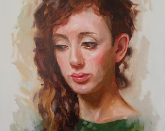 EXAMPLE ONLY. 12x16 Oil Painted Portrait, Handmade, Painted on Canvas