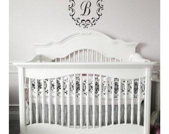 Posh Baby   Nursery Decals   Single Initial Decal   Monogram Nursery Decor   Elegant Baby