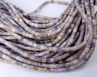Agate Beads-- 5mm Agate Tube Beads- FULL STRAND (ZZ-07)