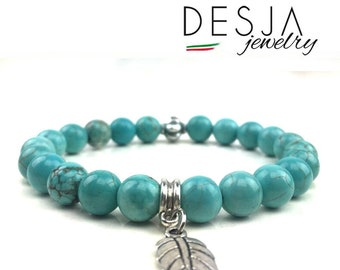 Silver Tibetan women's bracelet and natural gemstones Turquoise Jewelry