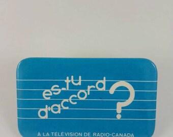 Vintage Radio Canada pinback button