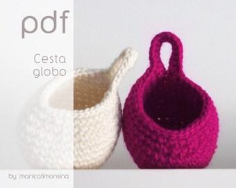 Pdf Cesta Crochet Etsy