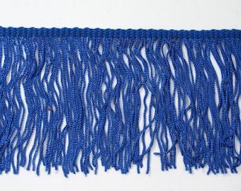 "Royal Blue Chainette Fringe 4"" Trim, Dance Costumes, Flapper Fringe, Decorating, Costume Supply, Tassel Trim, Sewing Trim By the Yard"